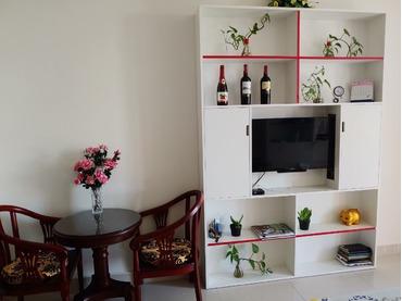 Cho thuê căn hộ OT Officetel 1 phòng ngủ The Tresor, thiết kế đơn giản kiểu khách sạn, thoáng và sáng