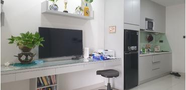 Cho thuê căn hộ Officetel Saigon Royal Quận 4, tầng cao, full nội thất, bao phí quản lí