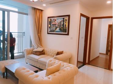 Bán căn hộ Vinhomes Central Park 2 phòng ngủ tòa Landmark Plus dưới tầng 10, full đồ, view bể bơi