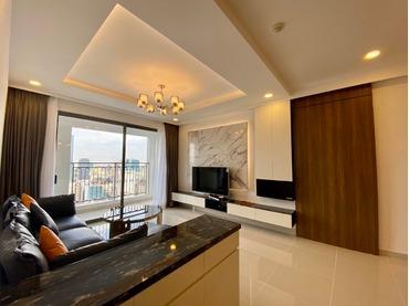 Cho thuê căn hộ Saigon Royal 3 phòng ngủ (3pn), căn góc, view thoáng sáng đẹp, full nội thất cao cấp rất đẹp