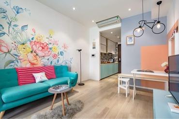 Cần cho thuê căn hộ Officetel The Tresor 1 phòng ngủ (1pn), thiết kế tông màu đẹp, nhà sáng, thoáng, đầy đủ đồ dùng