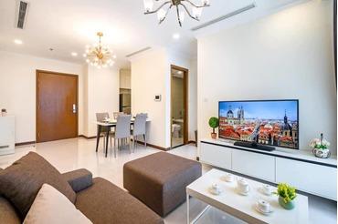 Cho thuê căn hộ Vinhomes Central Park 1 phòng ngủ (1pn), tòa nhà Landmark Plus đầy đủ nội thất đẹp, thoáng.
