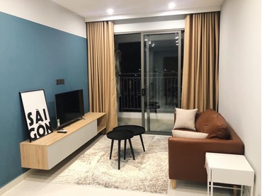 Cho thuê căn hộ Saigon Royal 2 phòng ngủ (2pn) 35 Bến Vân Đồn của CĐT Novaland giá siêu rẻ, full đồ nội thất