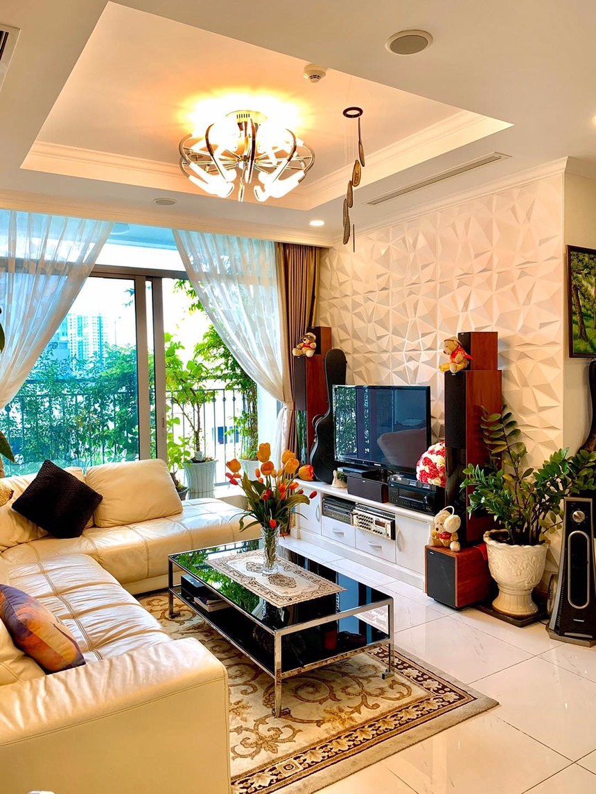 Phòng khách căn hộ tòa Landmark 6 tại Vinhomes CENTRAL PARK