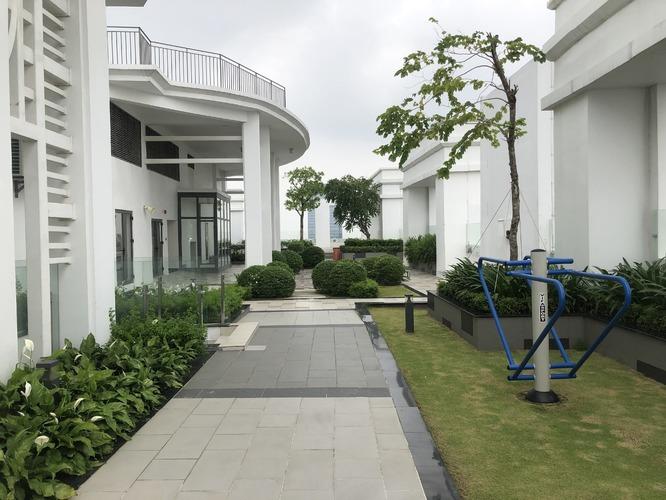 Khu nướng BBQ tầng thượng mái tòa nhà Saigon Royal Residence Quận 4