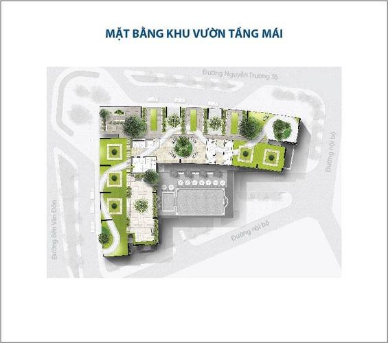 Mặt bằng layout tầng mái thượng tòa nhà Saigon ROyal Quận 4
