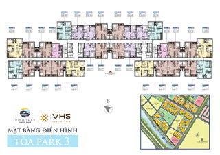 Mặt bằng khu The Sapphire 2 - Tòa 3
