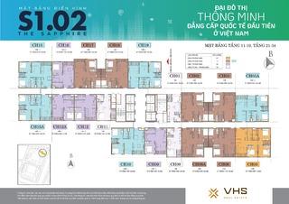 Mặt bằng Vinhomes Smart City tòa MB S1.02 (H02)