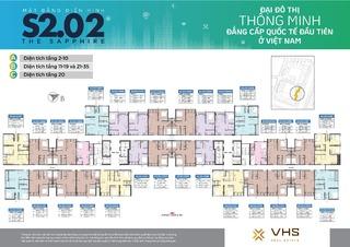 Mặt bằng Vinhomes Smart City tòa MB S2.02 (H08)