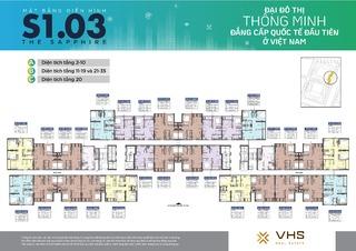 Mặt bằng Vinhomes Smart City tòa MB S1.03 (H03)
