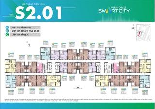 Mặt bằng Vinhomes Smart City tòa MB S2.01 (H07)