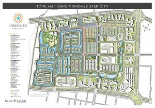 Mặt bằng tổng thể Vinhomes Star City Thanh Hóa