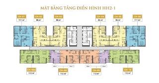Mặt bằng điển hình tòa HH2 - 1