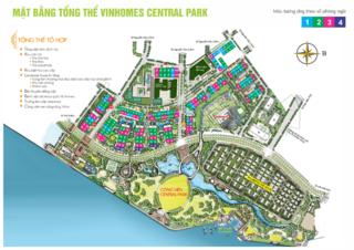 Mặt bằng đánh số phòng ngủ các tòa căn hộ chung cư Vinhomes Central Park