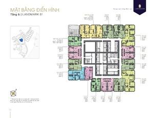 Mặt bằng điển hình Căn hộ chung cư Tầng 6 tòa Landmark 81 dự án Vinhomes Central Park