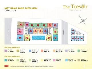 Mặt bằng tầng 7 đến 33 The Tresor