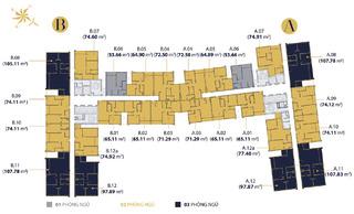 Mặt bằng điển hình các tầng Millennium Masteri